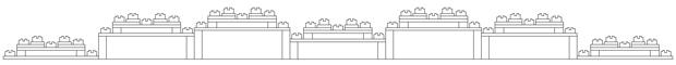 Leanfractal acoustic diffuser (7-panel setup)