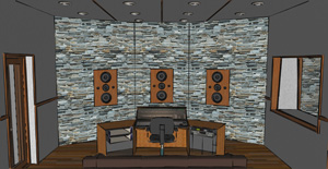 3D conceptual view inside a Hidley style NE (Non-Environment) control room, produced during the schematic design phase.