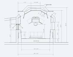 Recording studio design service the dream studio blueprint recording studio control room floor plan malvernweather Image collections