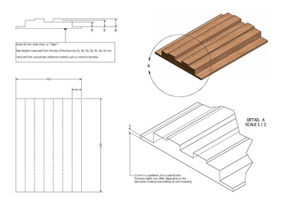 DIY Sound Diffuser Fabrication Drawing