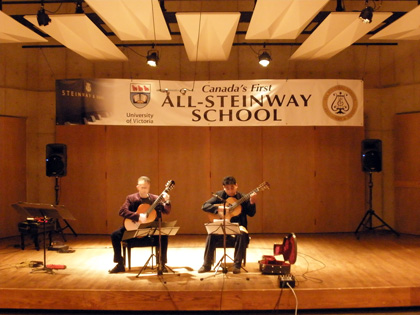 Acoustic Guitarists Concert in Auditorium