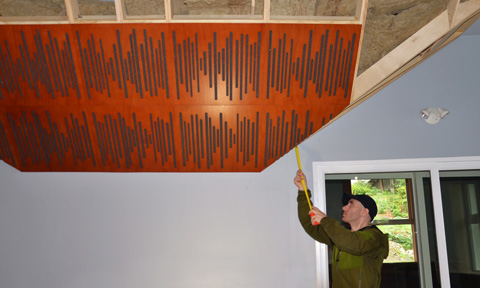 Installing acoustic panels