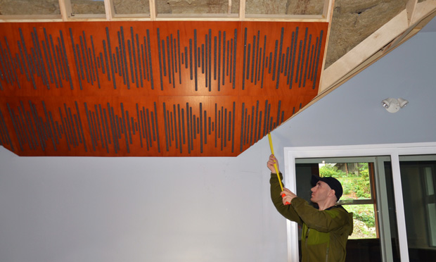 Installing Wavewood acoustic panels